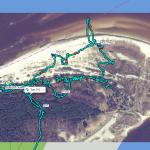 Трек маршрута прогулки в устье Лиелупе