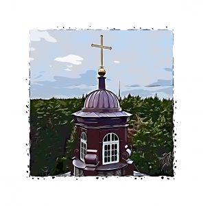 Башенка церкви в Катлакалнс